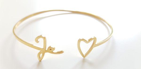 bracelet jonc acier inoxydable Mile Mila je t'aime