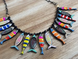 collier poisson sardine lol lolilota pattesdechat