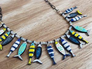bijoux emailles sardine lol lolilota