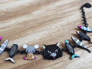 bijoux lol bracelet chat et poissons pattesdechat.fr