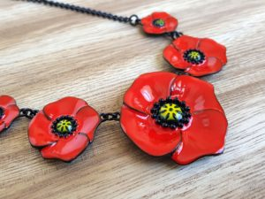 bijoux collier coquelicot collection lol boutique pattesdechat.fr