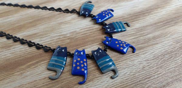 bijoux lol collier chat bleu