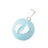 bola de grossesse bleu petits pieds