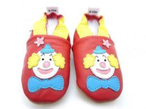 chaussons bébé clown