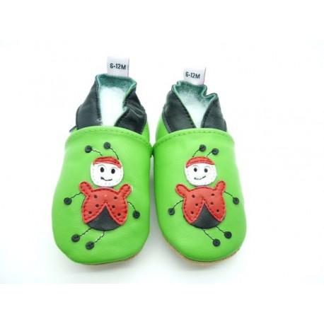 chaussons bébé coccinelle