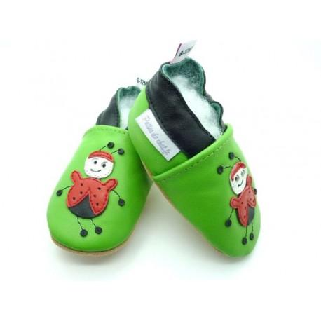 chaussons enfant coccinelle