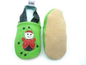 chaussons anti-dérapantcoccinelle