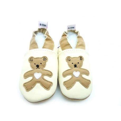 chausson ourson bébé enfant
