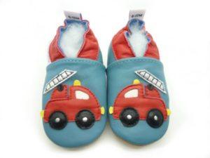 chaussons enfant bébé pompier