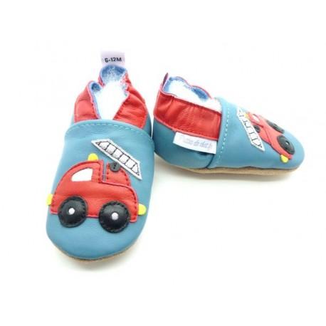 chaussons bébé enfants pompier