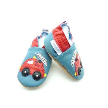 chaussons bébés enfant pompier