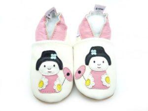 chaussons enfant poupée japonaise