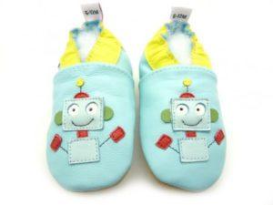 chaussons bébé robot