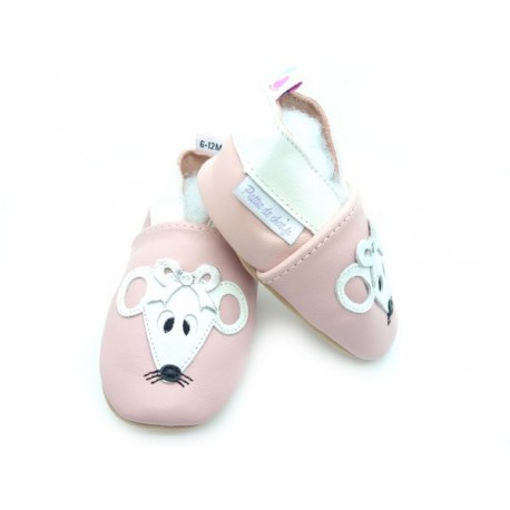 chaussons rose souris