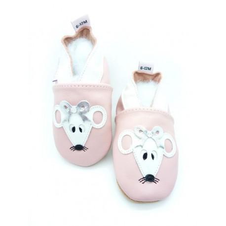 chaussons bébé souris