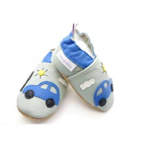 chaussons bébé cuir voiture