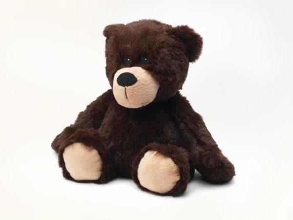 peluche bouillotte ours brun