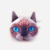 porte-monnaie chat roux