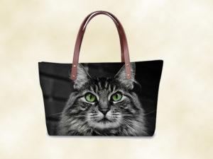 sac femme 3D chat sibérien