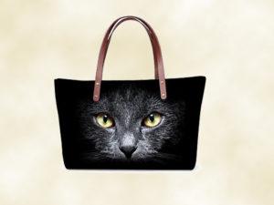 sac femme chat 3D