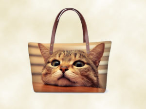 sac femme chaton 3D