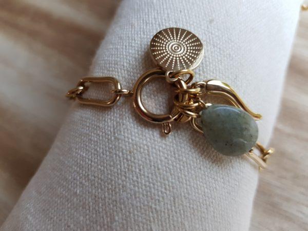 bracelet acier doré a acheter en boutique pattesdechat