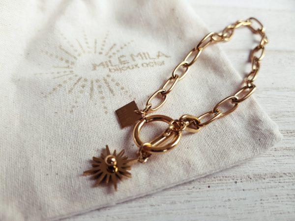 bracelet acier inoxydable mile mila