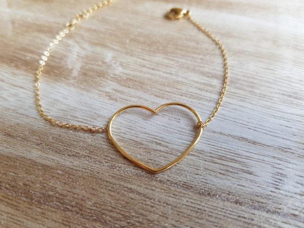 bracelet coeur doré mile mila