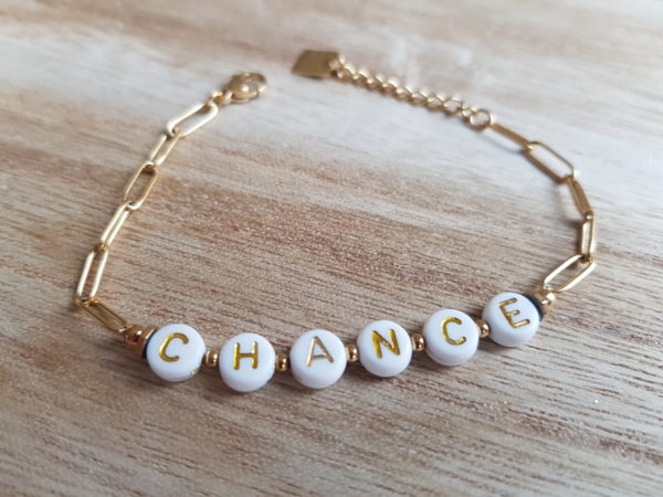 bracelet acier chance