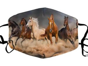masque tissus cheval galop