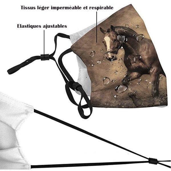masque tissus cheval