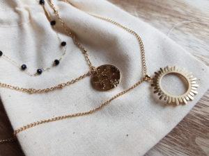 collier en acier 3 rangs satine bijoux