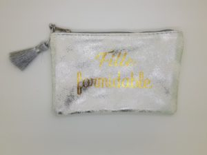 pochette texte message fille formidable mile mila