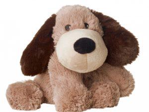 peluche bouillotte chien marron